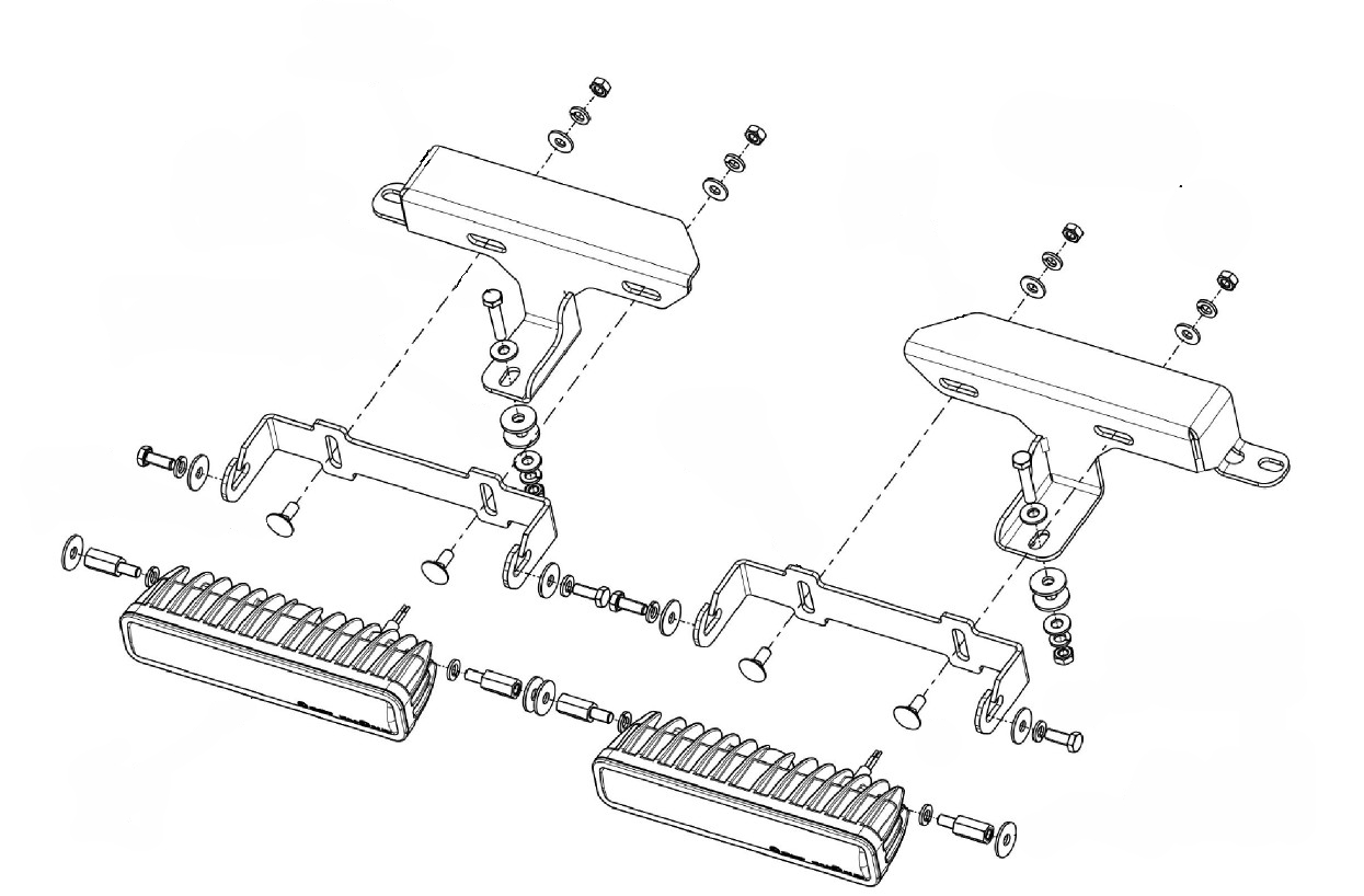 Lampenhalter für Kühlergrill Ford Ranger