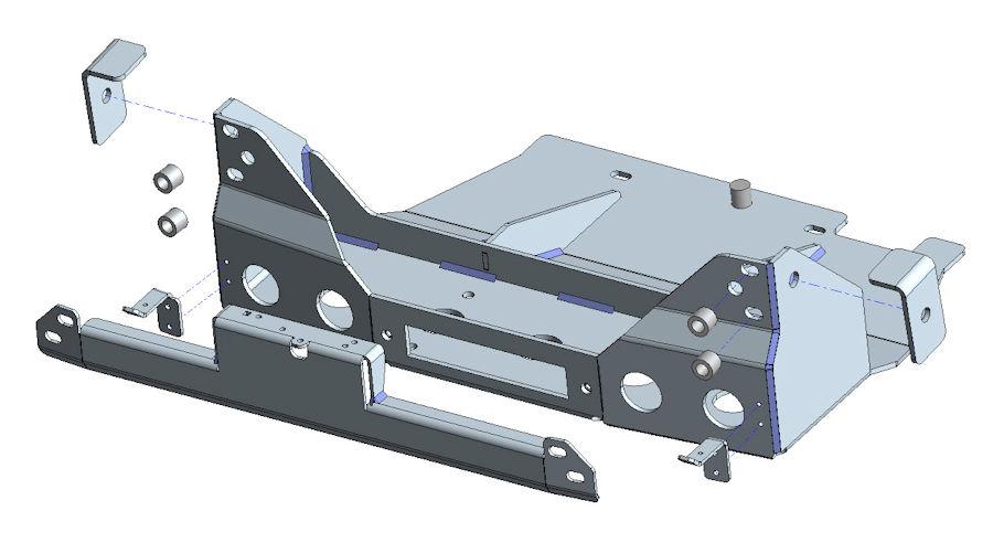 Seilwindensystem Frontseilwinde für Ford Ranger mit ACC-System Winden