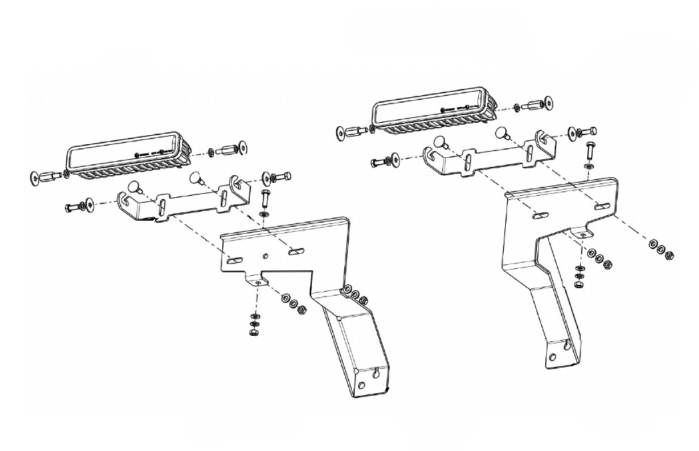 Lampenhalter für Kühlergrill Mecedes X-Klasse 250d Scheinwerfer