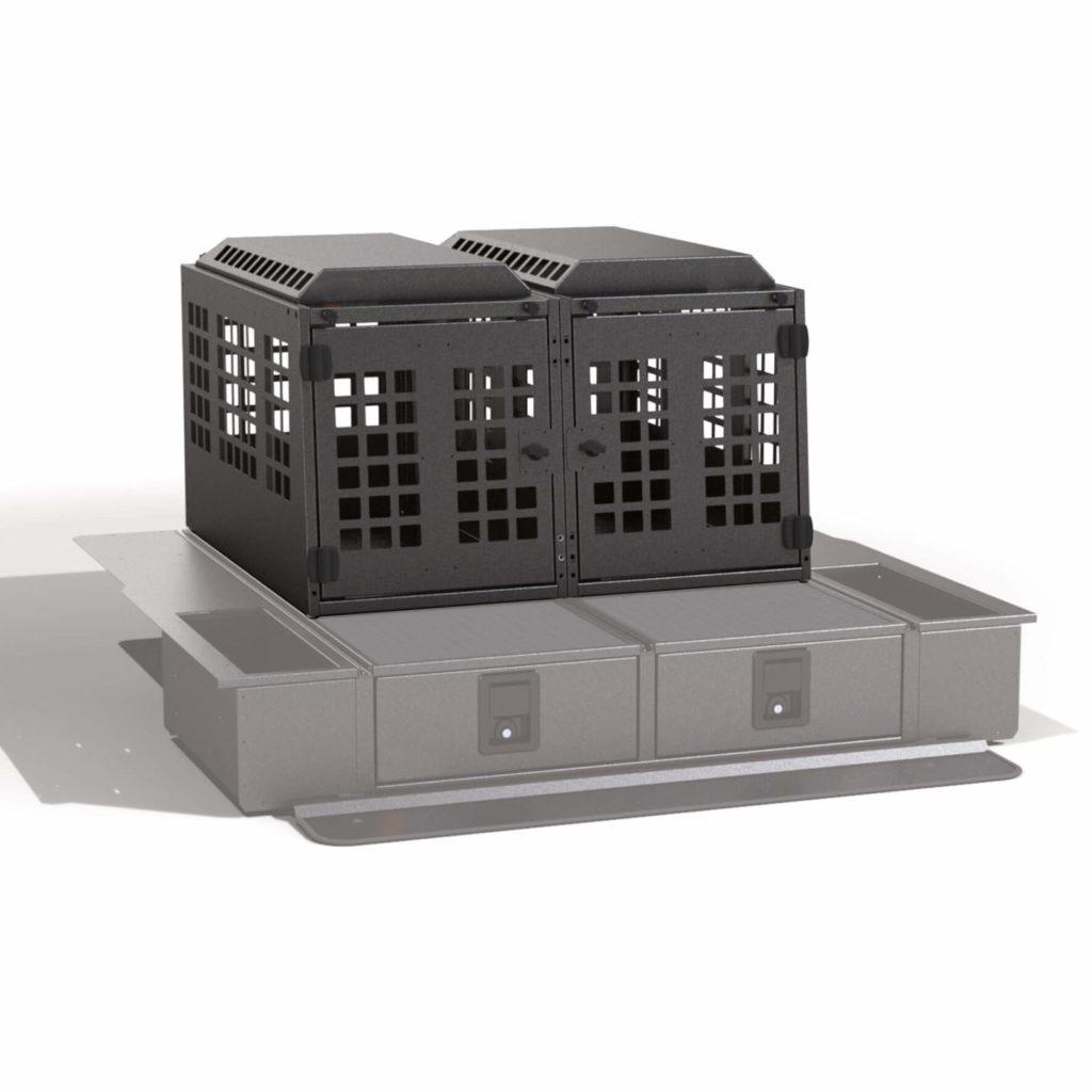 Hundebox doppel für Schubladensystem Schubladen
