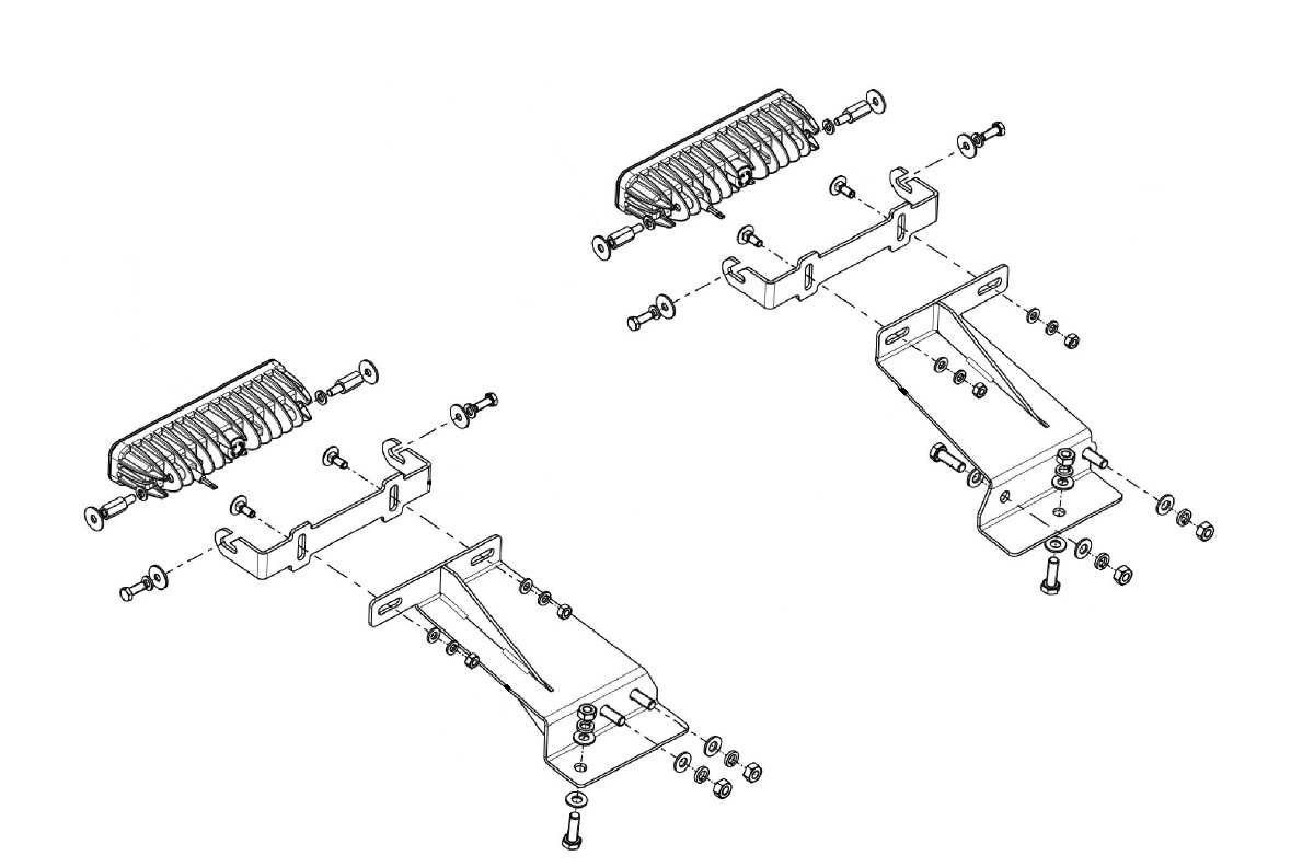 Lampenhalter für Kühlergrill Toyota Hilux 2016+ Scheinwerfer
