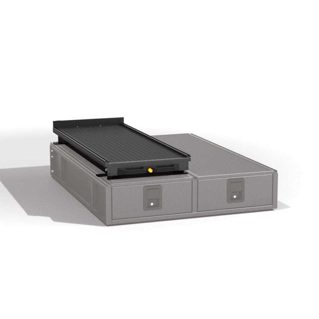 Ausziehbare Ladefläche für Schubladensystem Schubladen