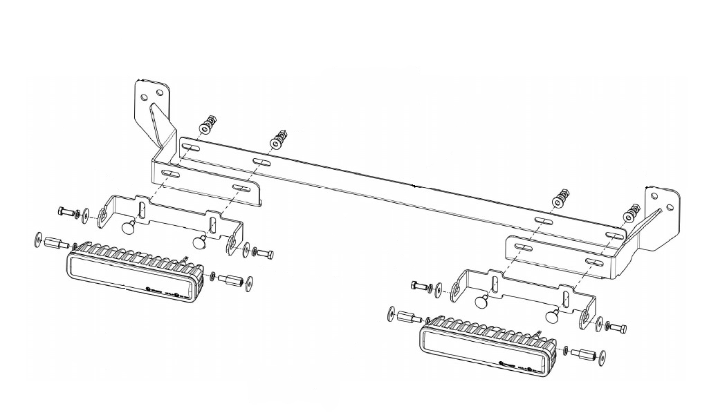 Lampenhalter für Kühlergrill Nissan Navara (NP300/D23) Scheinwerfer