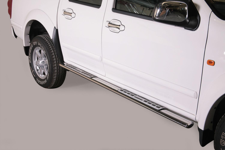 Schwellerrohre Design oval mit Tritt-Auflage Styling Parts
