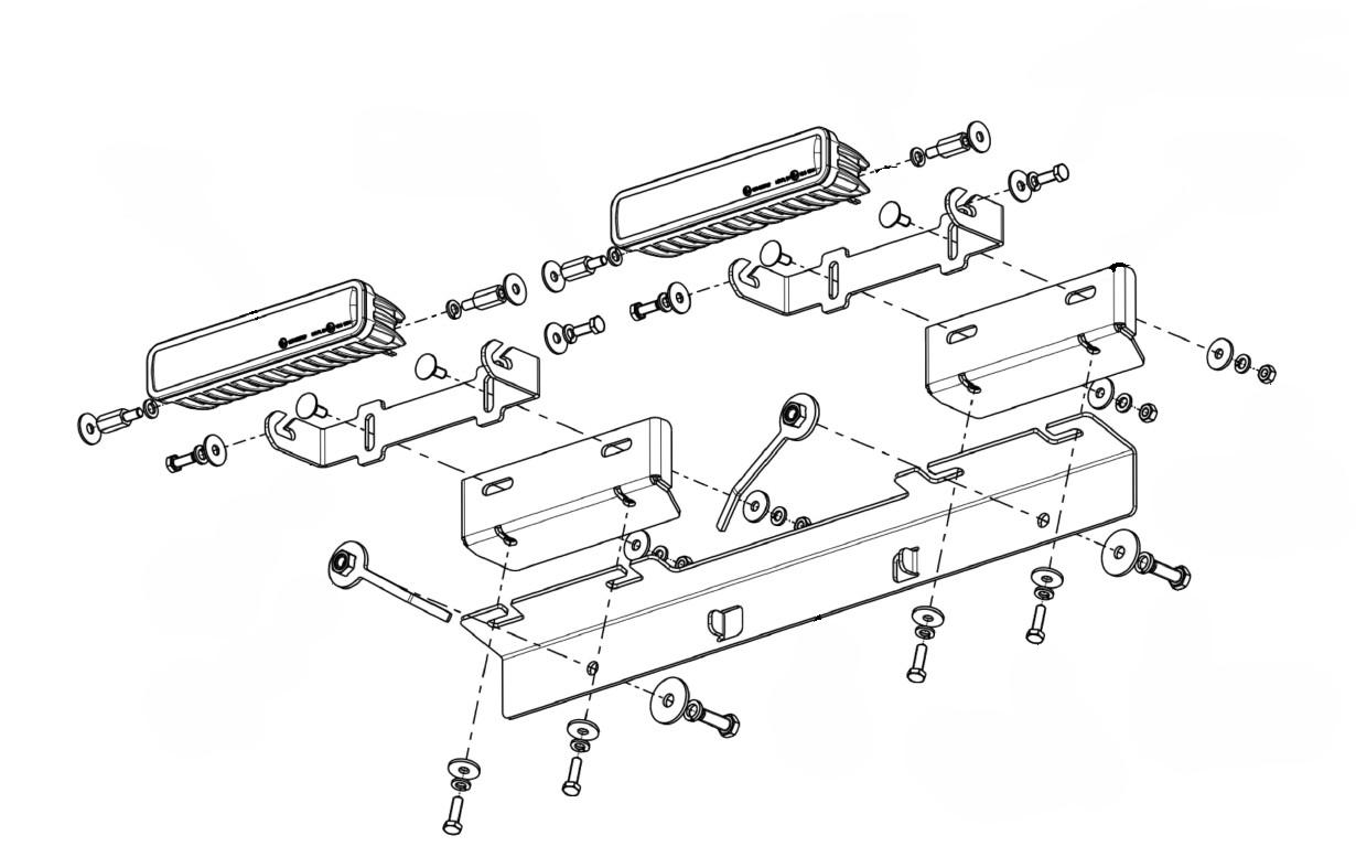 Lampenhalter für Kühlergrill Mitsubishi L200