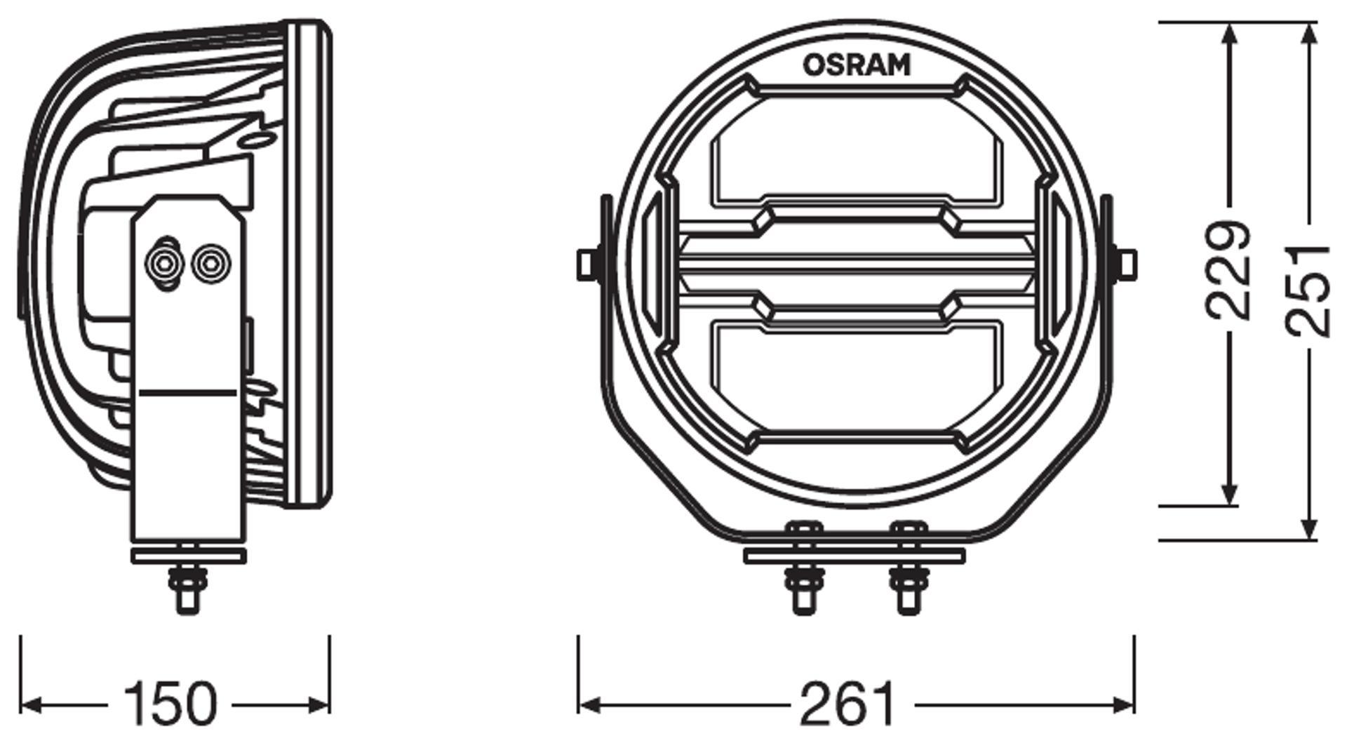 LEDriving Round MX260-CB Scheinwerfer