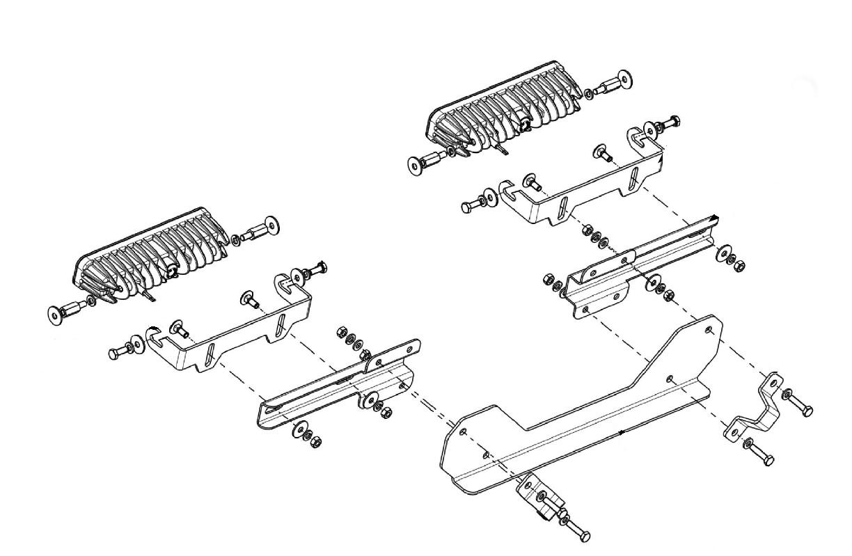 Lampenhalter für Kühlergrill VW Amarok Scheinwerfer