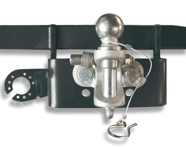 Anhängerkupplung mit Kugel-Maul Kombination für Rohrstoßstange Anhängerkupplung