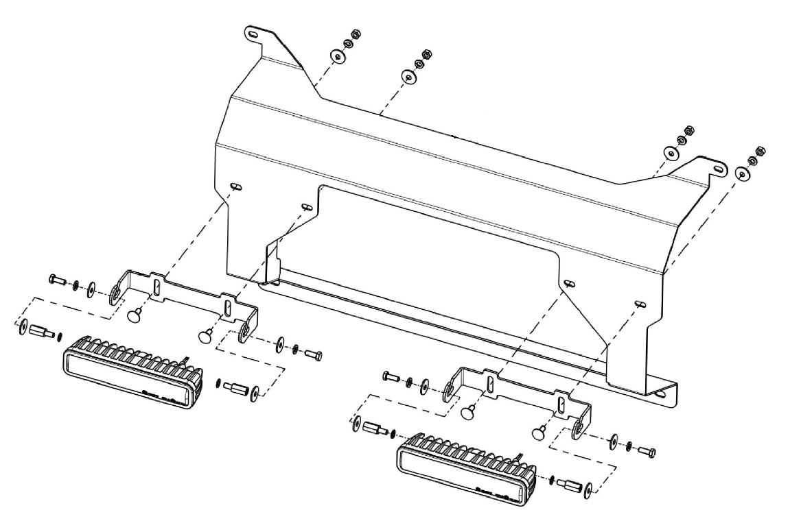 Lampenhalter für Kühlergrill Ford Ranger 2019 Scheinwerfer