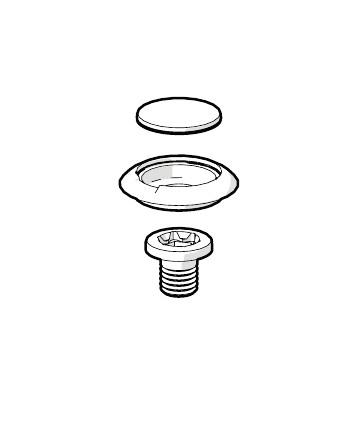 Schrauben mit Gummi Abdeckung. Ersatzteile Aluminiumrollo